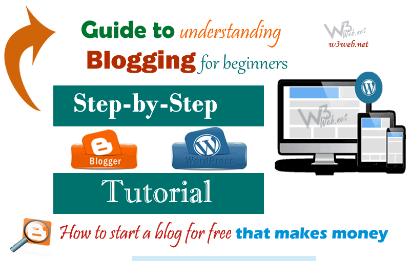How to start a blog for free that makes money by w3web.net