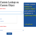 How to create custom lookup on custom object in lightning component