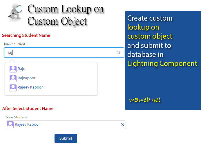 custom lookup in salesforce