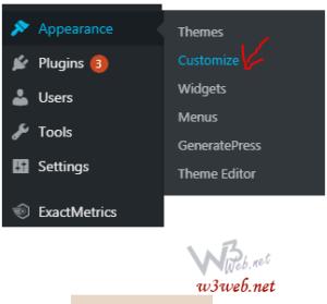 General general customization's of WordPress theme by w3web.net