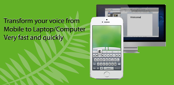voice typing in computer from mobile