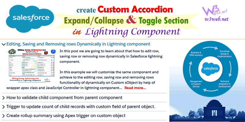 custom accordion expand collapse and toggle lightning component