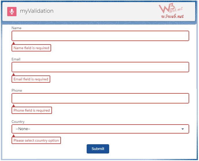 custom validation in lightning component -- w3web.net