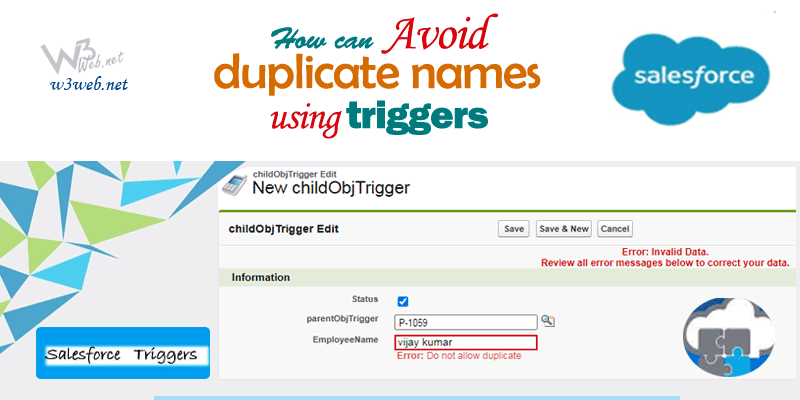 w3web.net -- trigger to check for duplicates