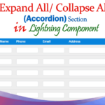 Create custom expand all/ collapse all for accordion section rows table based in lightning component