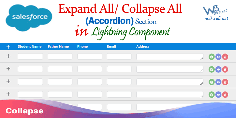 expandable/Collapsible Section in lightning component -- w3web.net