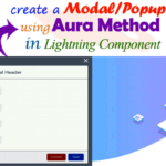 How to display a Modal/Popup on click button using aura method in lightning component