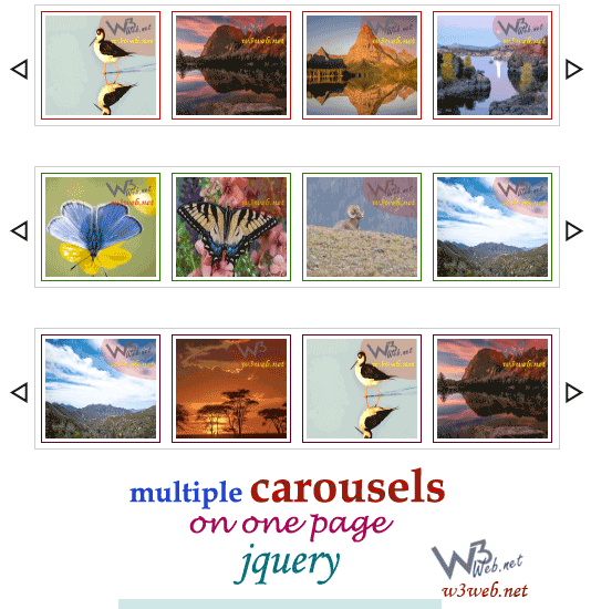 w3web.net -- multiple carousels on one page jquery