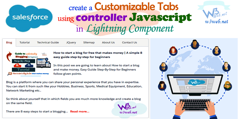 custom tab of lightning component -- w3web.net