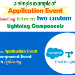 A Simple Example of Application Event Handling Between two Custom Lightning Components in Salesforce