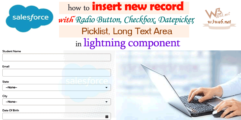 insert new record using lightning component -- w3web.net