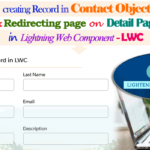 Creating Record in Contact Object and Redirecting to Detail Page Simply Using With '@salesforce/schema/Contact' in Salesforce Lightning Web Component – LWC