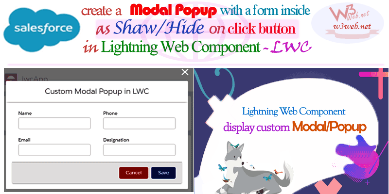 Lightning Web Component Display a Modal/Popup -- w3web.net