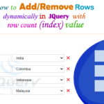 add and delete rows dynamically in jquery -- w3web.net