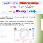 How to Create Custom Banner Rotating Image with Text Slider Using JQuery and css3