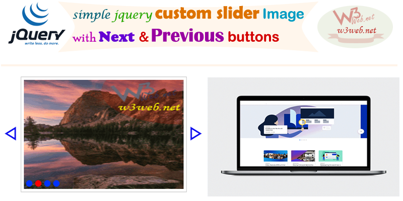 image slider with next previous button in javascript -- w3web.net