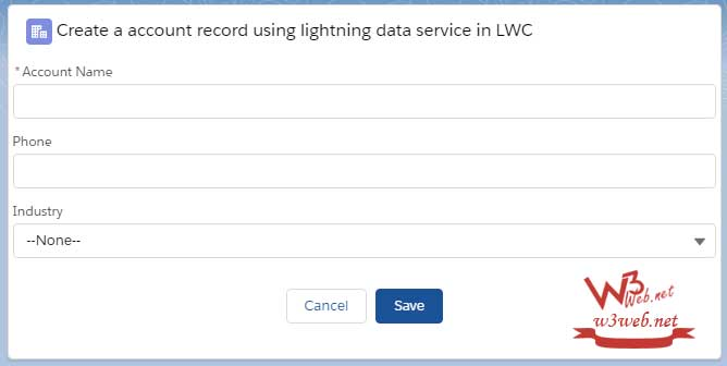 Insert new record using lightning data service -- w3web.net