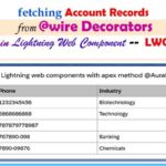 Fetching Account records from @wire Decorators -- w3web.net