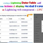 Creating a Lightning Datatable with Row Actions and Display a Modal Popup on Click View Icon Button in Salesforce Lightning Web Component – LWC
