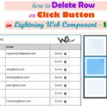 How to delete selected record on click button using deleteRecord of uiRecordApi in Lightning web component -LWC