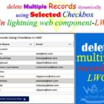 Deleting multiple records dynamically with checkbox on delete button in lightning web component salesforce — LWC