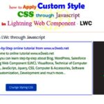 How to add custom style css and change the text color & text size through JavaScript in lightning web component – LWC