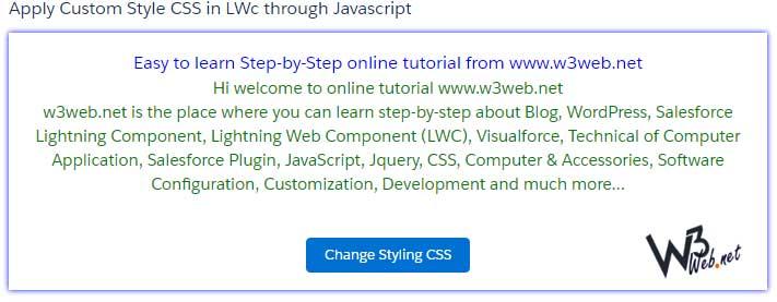 add custom style css in lwc -- w3web.net