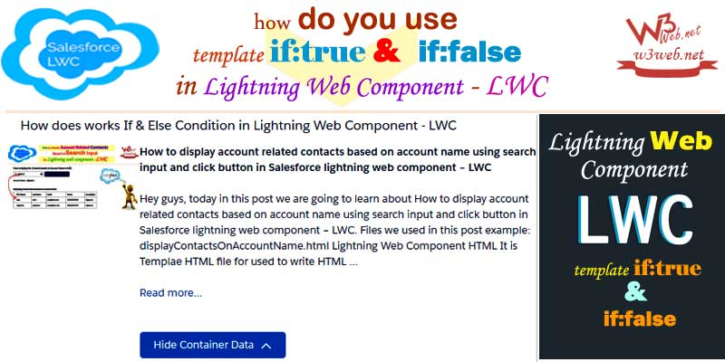 if and else condition in lwc -- w3web.net