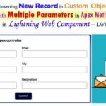 Insert New Record in Custom Object and Navigate to the Record Detail Page Using Apex class method in Lightning Web Component — LWC