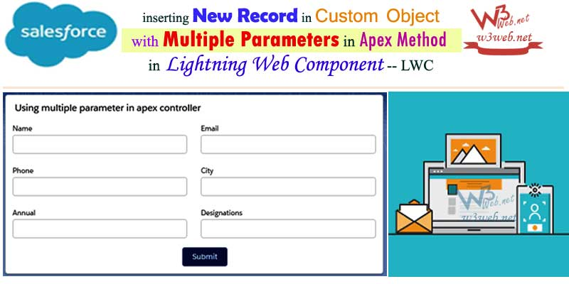 Insert New Record in Custom Object in lwc -- w3web.net