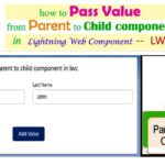 How to Communicate Between Parent to Child and Passing the Value from Parent Component to Child component in Lightning Web Component — LWC