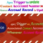 Create a Apex Trigger on Account to Update the Associated Contact Account Name  Null Whenever Account  Record is Updated in Salesforce