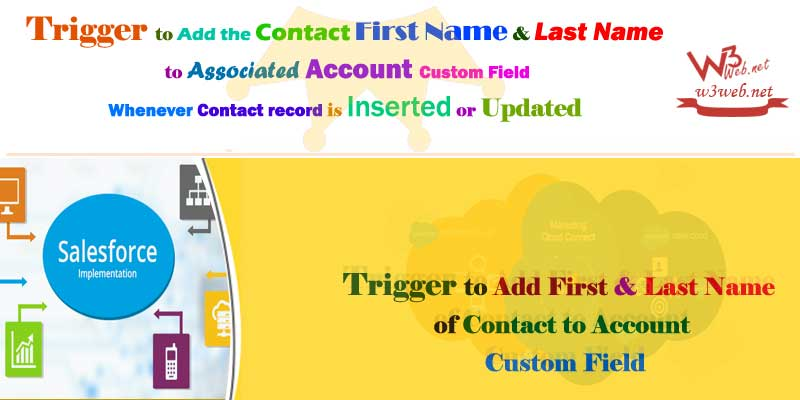 Trigger to Add First and Last Name of Contact to Account Custom Field -- w3web.net