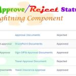 Create a Custom Lightning Component for Show Approve/Reject Status of Selected Records through Modal Popup in Salesforce  Lightning Component