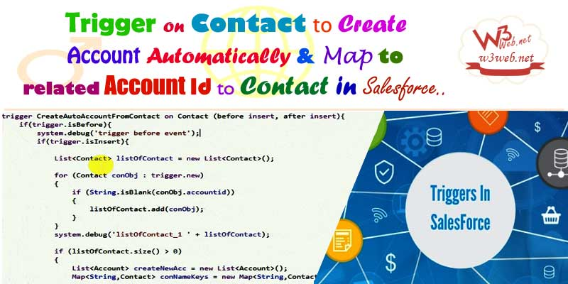 trigger to create account Automatically whenever contact is is created -- w3web.net