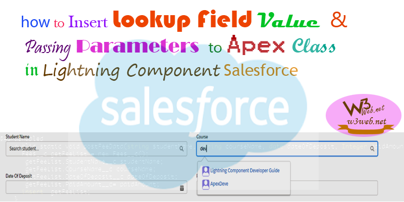 insert lookup field value through apex class in salesforce -- w3web.net