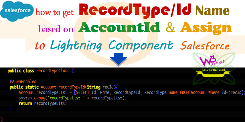 how to get recordType/Id Name of Account Object based on AccountId -- w3web.net