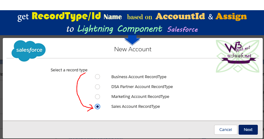 how to get recordType/Id Name of Account Object -- w3web.net