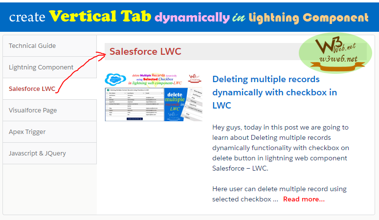 create lightning vertical tab dynamically in lightning component -- w3web.net