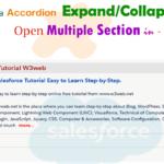 lightning:accordion multiple open sections in lwc -- www.w3web.net