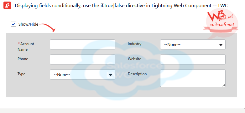 lwc template if conditions show hide element -- w3web.net