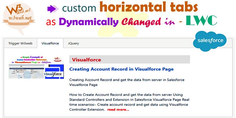lwc custom horizontal tabs as dynamically changed -- www.w3web.net