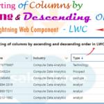 sort columns in ascending and descending order in lwc -- w3web.net