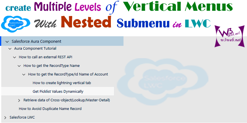 multiple levels vertical menus with nested submenu lwc -- w3web.net