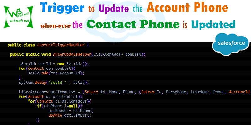 trigger to update account phone with contact phone -- w3web.net