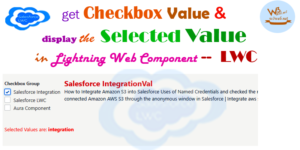 get selected checkbox value in lwc -- w3web.net