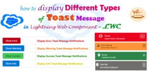 display different types of toast message in lwc -- w3web.net