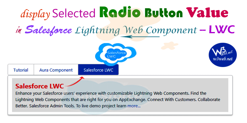 get value of radio is checked in lightning web component -- w3web.net