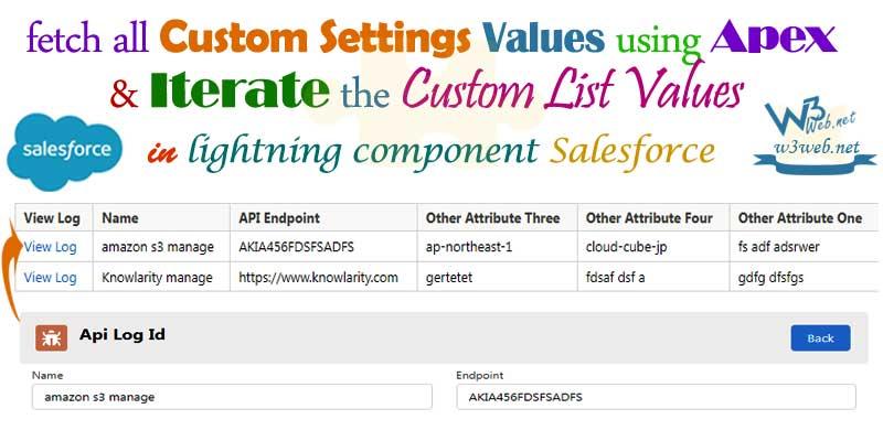 salesforce custom settings edit list/back navigation -- w3web.net