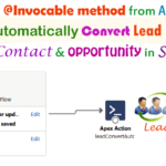 How to call invocable method (@InvocableMethod) from APEX Controller to convert automatic lead to Account, Contact and Opportunity Uses of Flow Builder/Flow Action in Salesforce | convert automatic lead to Account, Contact and Opportunity through apex class and flow action in Salesforce